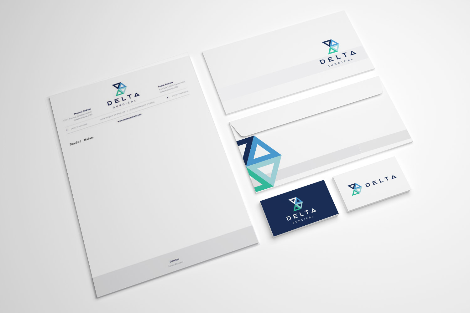 branding design of delta surgical by the sight seekers